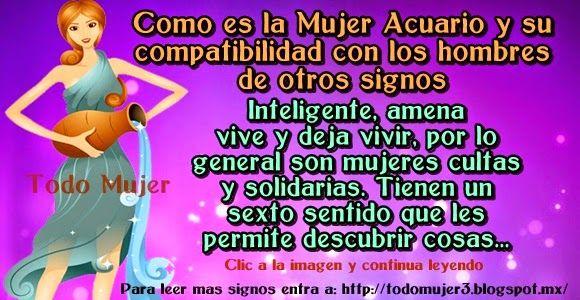 Todo Mujer: COMO ES LA MUJER ACUARIO Y SU COMPATIBILIDAD CON L...