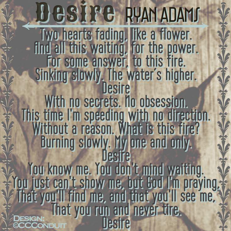 Desire  - Ryan Adams - Lyrics