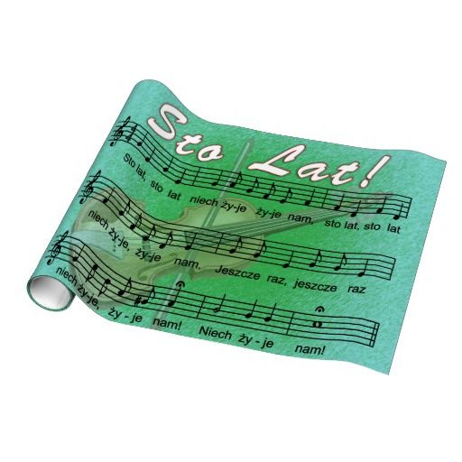 Sto Lat Song With Fiddle Gift Wrapping Paper