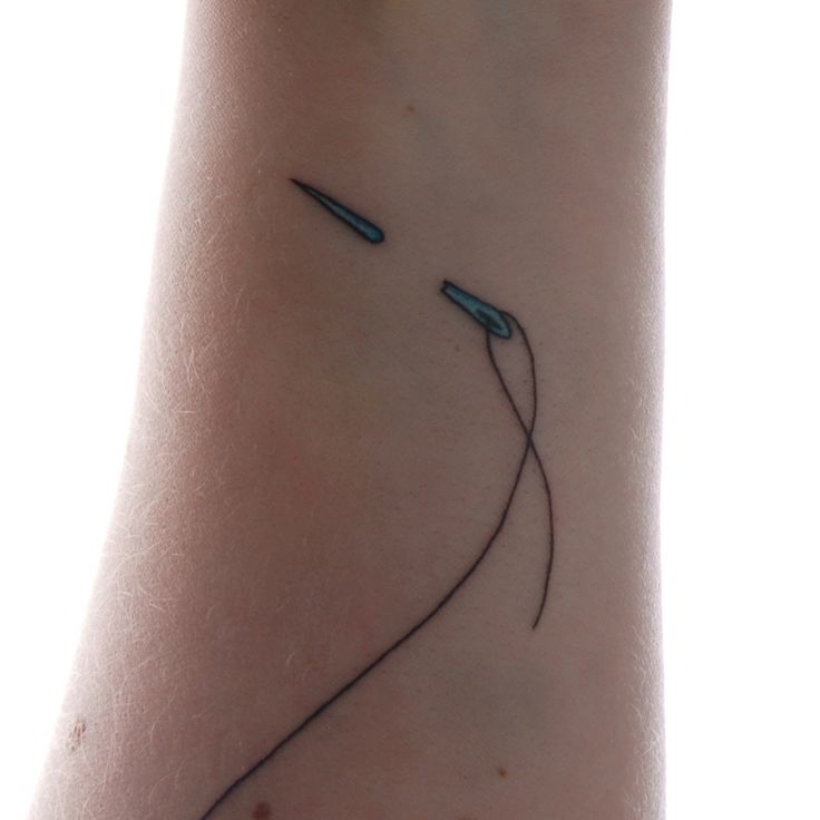 needle & thread tattoo, ok, not really. I love to crochet, but not enough to have it permanently etched on my body.