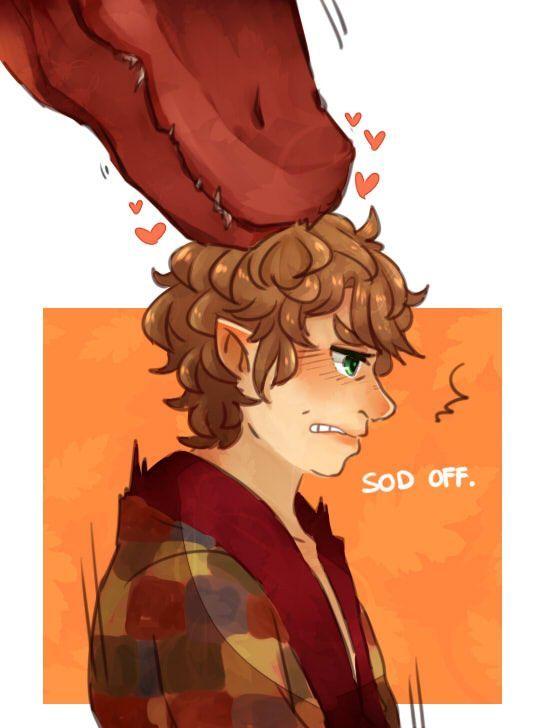 John/Bilbo and Sherlock/Smaug