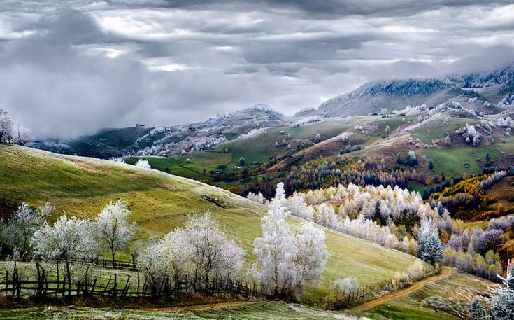 "Romania, Land of Fairy Tales: ""White frost over Pestera village. Photo: Eduard Gutescu - National Geographic Traveler Photo Contest"