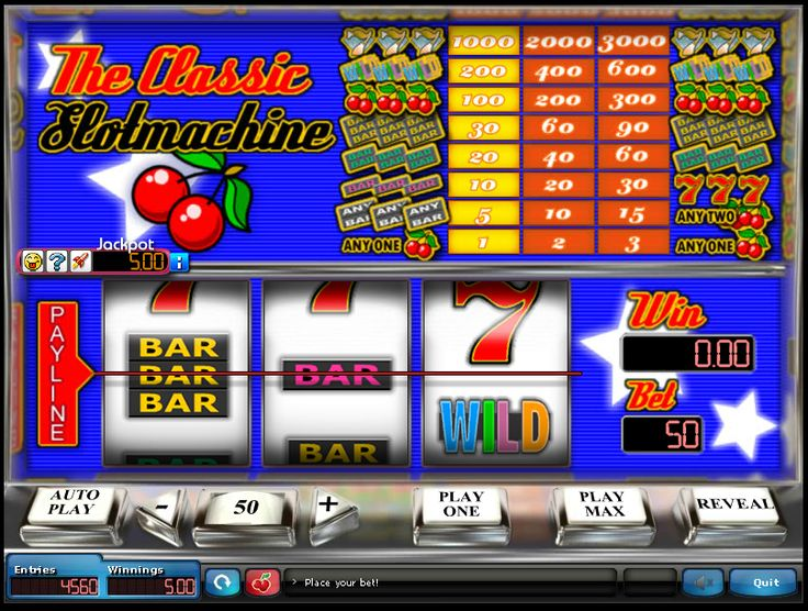 THE CLASSIC SLOTMACHINE - - Play Now - - www.homesweeper.com