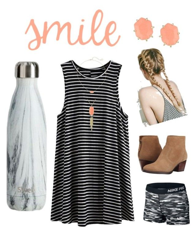 smile by kyleemorrison on Polyvore featuring NIKE, Nine West and Kendra Scott