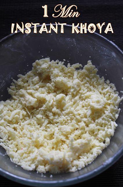 YUMMY TUMMY: 1 Min Instant Khoya Recipe - Instant Khoya using Milk Powder