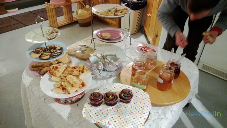 The Heavenly Scent Cellar Cafe offered jams and jellies on fresh bread and pastries.