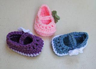 Tampa Bay Crochet: Free Pattern Mary Jane Skimmer Booties