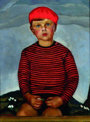 """Lilian Torence Newton (1896-1980) """"Winkie"""", 1929. Huile sur toile, 76,5 x 61,5 cm Montréal Musée McCord. Exposition Le Groupe de Beaver Hall, MBAM."""