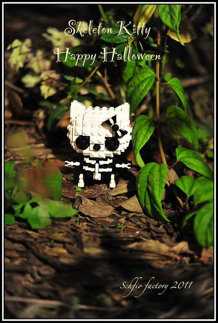 hello kitty lego skeleton