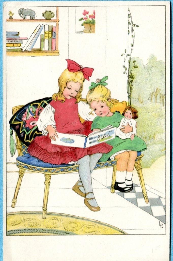 Чтение для детей открытки, днем