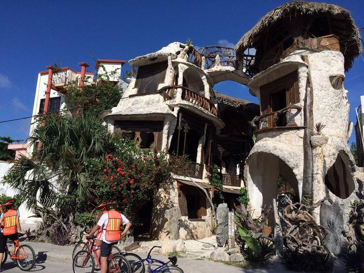 Puerto Morelos, Puerto Morelos, Mexico - Interesting building for...
