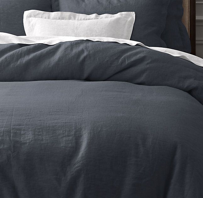 rhu0027s belgian linen duvet coverthe finest linen dresses the bed with classic simplicity offering a unique blend of comfort and