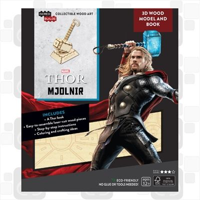 Incredibuilds Marvel Avengers Thor 3D Wood Model and Book Games, Merchandise | Sanity
