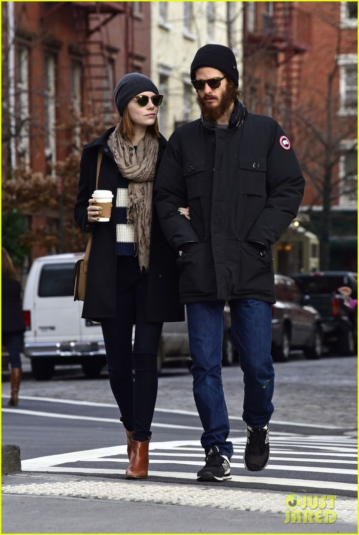 Emma Stone and her boyfriend Andrew Garfield