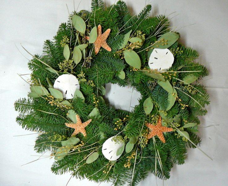Wreaths For Door - Coastal Holiday Fresh Christmas Wreath, $45.99 (http://www.wreathsfordoor.com/coastal-holiday-fresh-christmas-wreath/)