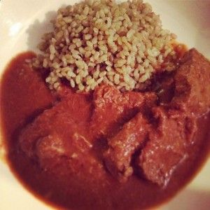 skinnymixer's Beef Madras - yum, mild. Try with lamb next time.