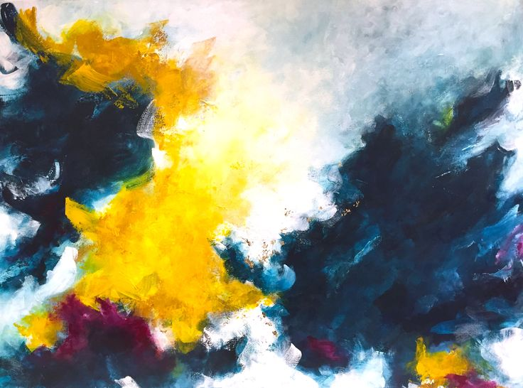 "Feeling the Wind by Viviane Bergevin (Acrylic, 30""x40""). Canadian artist, Ottawa artist, abstract artist."