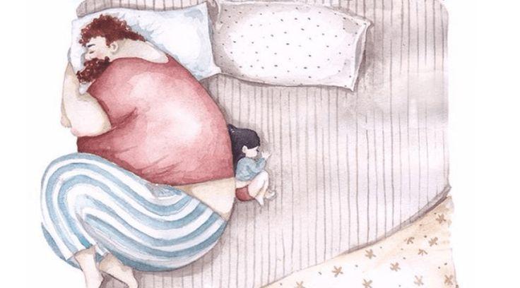 15 нежных иллюстраций о том, как отцы относятся к своим дочкам