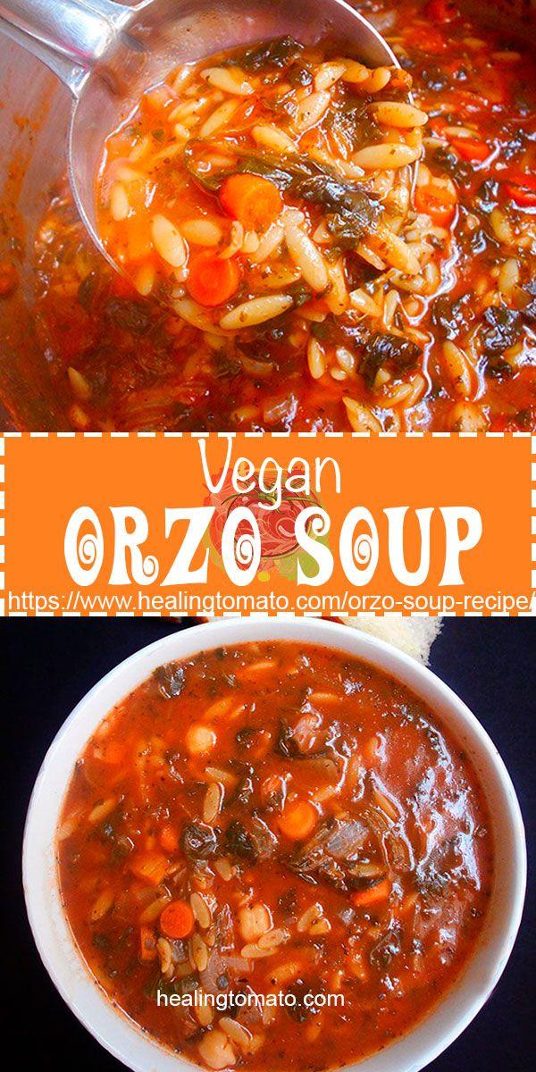 Vegan Orzo Soup