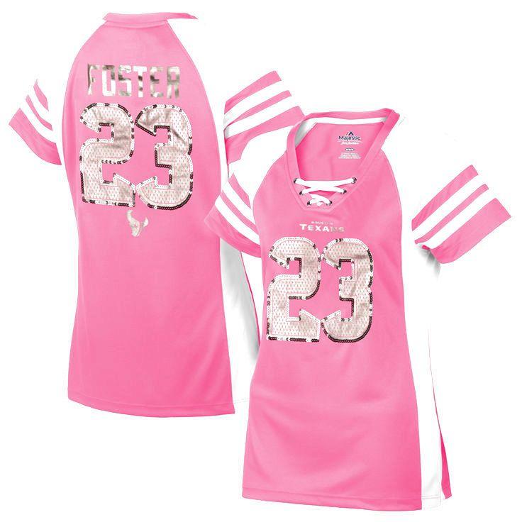 Arian Foster Houston Texans Majestic Women's Draft Him IV T-Shirt – Pink - $47.49