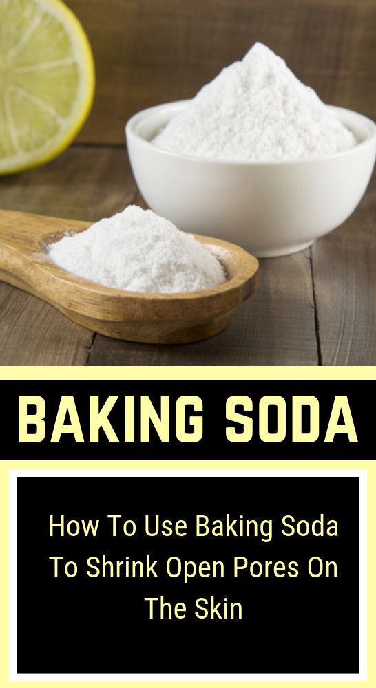How to use baking soda to shrink open pores on the skin