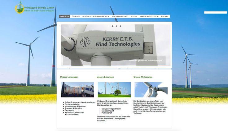 Ab sofort Online ist die Internetseite der Windspeed Energie GmbH. Das Unternehmen ist der richtige Partner wenn es darum geht ein Unternehmen zu finden das sich schwerpunktmäßig auf neue & gebrauchte Windkraft- und Kleinwindanlagen ausgerichtet hat.