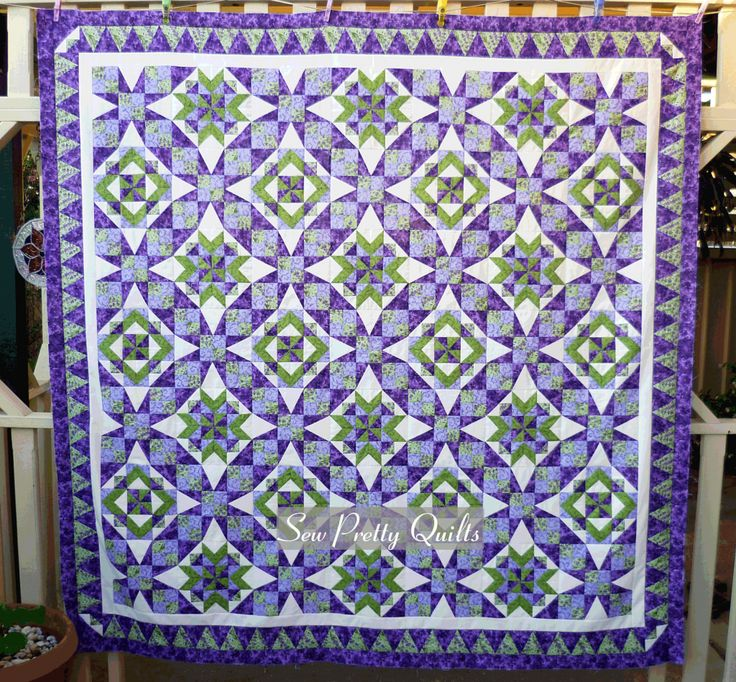 Celtic Solstice Quilt, Designed by Bonnie Hunter. PDF download instructions on her Quiltville site. It was a mystery quilt series. Tennessee Waltz with its traditional 54-40 block.