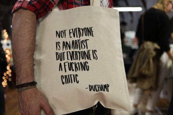 Tote Bag - Screenprint Over Cotton Canvas Tote Marcel Duchamp