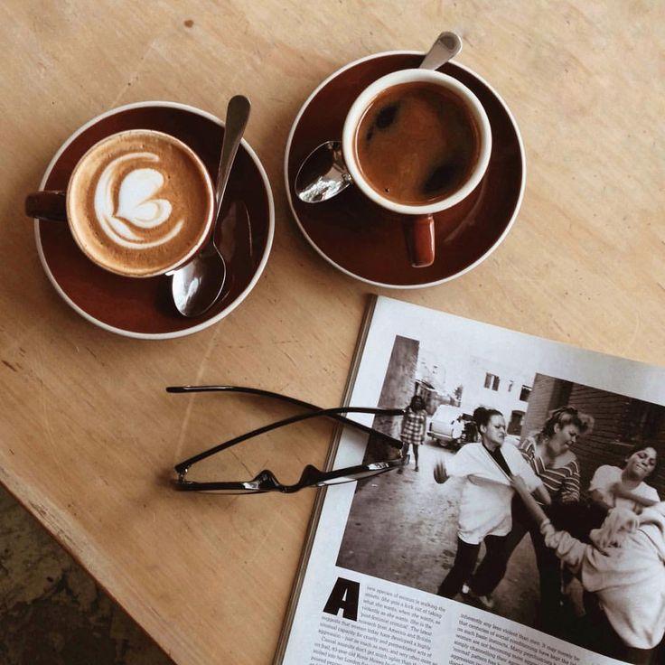 #coffee date with off-duty model friend, Joy Lakay.  #flatlay #coffee #magazine #glasses #instagram #café #coffeeflatlay #capetown  #theminimalebloggerflatlay