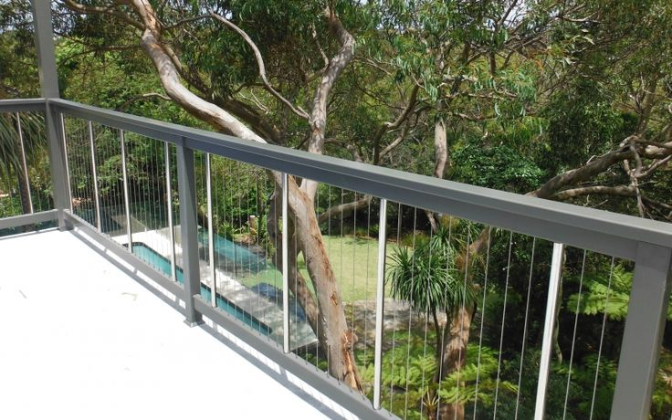 Grey Aluminium Cable Fencing
