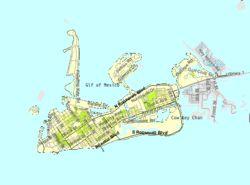 U.S. Census Bureau map showing city limits