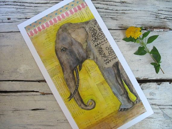 Elephant Art-Print Of Circus Elephant-Another Day Another