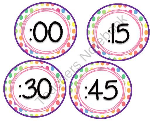 FREE Clock Labels from Third Grade Love on TeachersNotebook.com (3 pages)