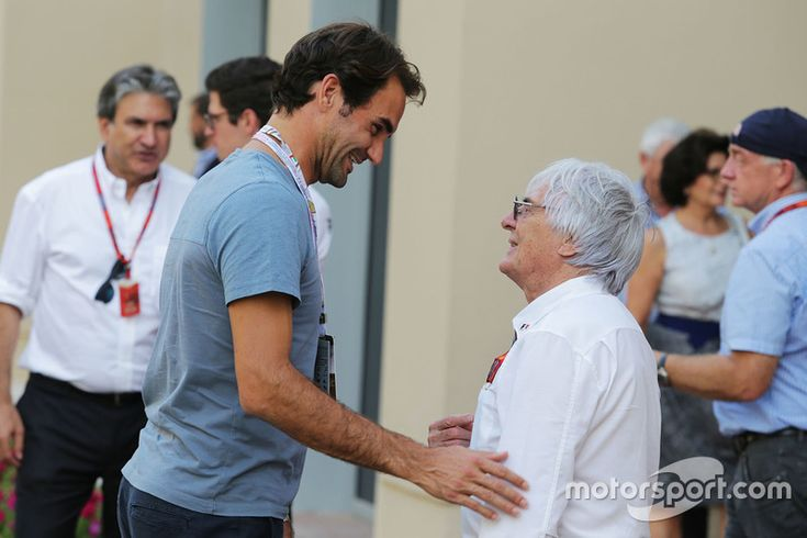 Roger Federer, Tennis Player with Bernie Ecclestone