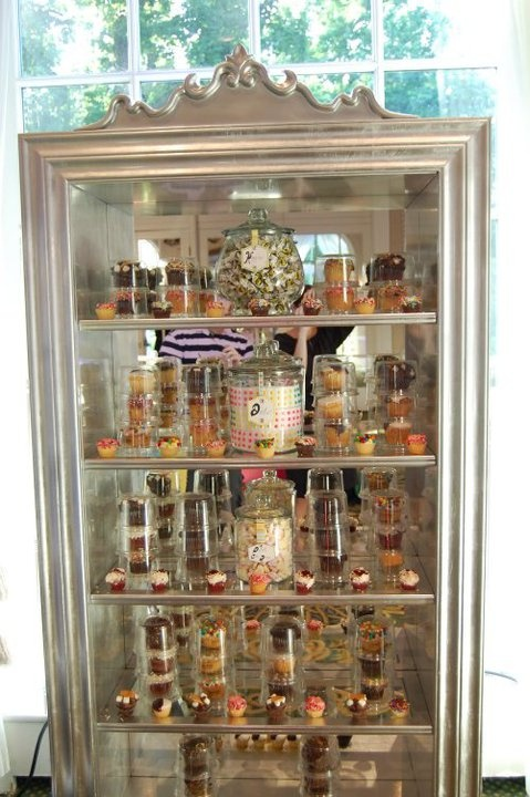 Unique idea to display the candy buffet table