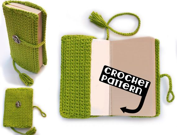 Crochet Book Cover Patterns : Ideas about crochet book cover on pinterest