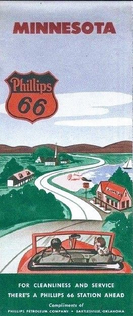 Phillips 66 Minnesota road map.