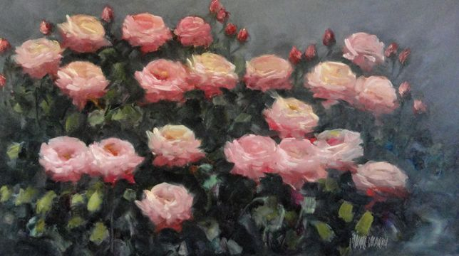 Pintura de flores de Eduardo Álvarez Aravena. Encuentra éste y otros cuadros en Apumanque.