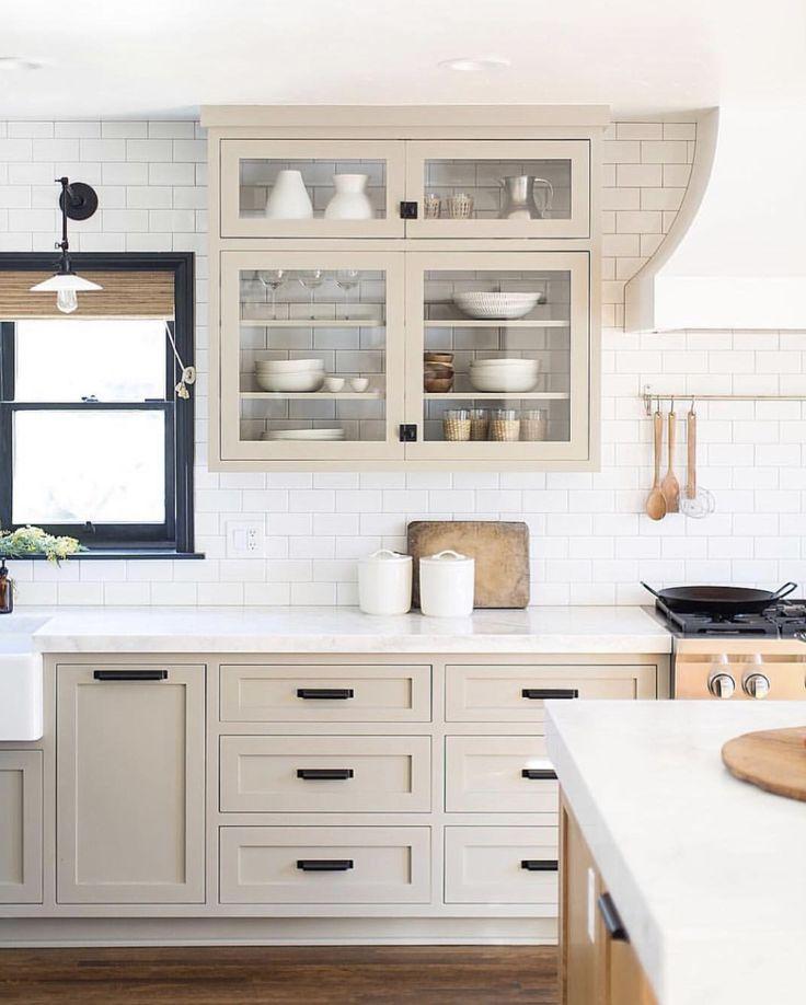 Light tan kitchen cabinets. Warm kitchen | Beige kitchen ...