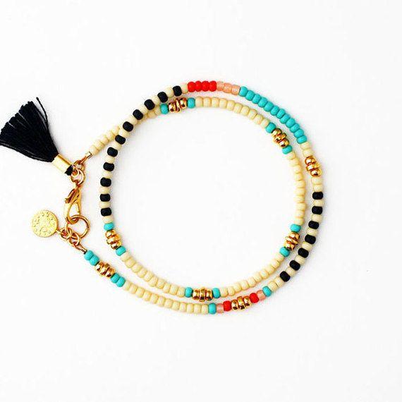 Perlen Armband Bettelarmband Freundschaft Armband von feltlikepaper