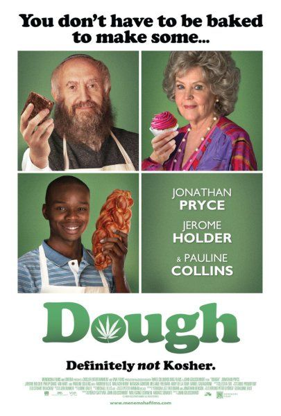 """""""Jonathan Pryce (Pirates of the Caribbean, Game of Thrones) and Pauline Collins (Shirley Valentine) star in this hilarious new comedy that shows you don't have to be baked to make some Dough! An old Jewish baker (Pryce) takes on a young Muslim apprentice (Jerome Holder) to save his failing London kosher bakery. When his apprentice's marijuana stash accidentally falls in the mixing dough, the challah starts flying off the shelves! Dough is a warmhearted and humorous story about overcoming…"""
