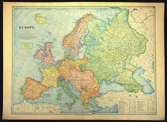 map of europe 1800s Europe Map of Europe Wall Decor Art LARGE Antique | Etsy | Europe