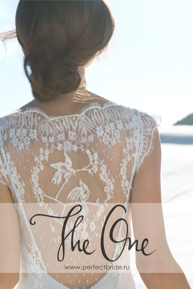 Нестандартное кружевное серое свадебное платье 2015 Margot о Rembo Styling