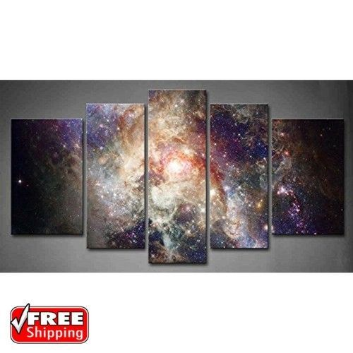 Star Field In Space And A Nebulae Canvas Wall Art Pictures Photo Print Decor   Home & Garden, Home Décor, Posters & Prints   eBay!