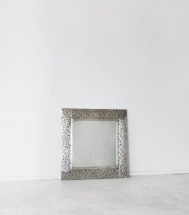 Square Indian Embossed Mirror / Large