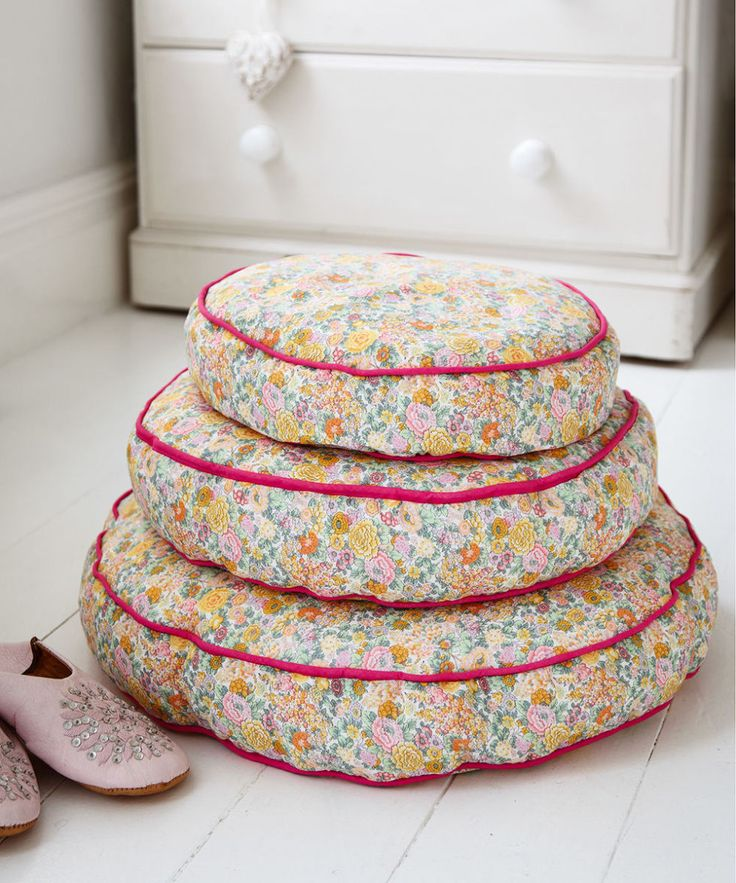 Make floral bean-bag floor cushions for your home