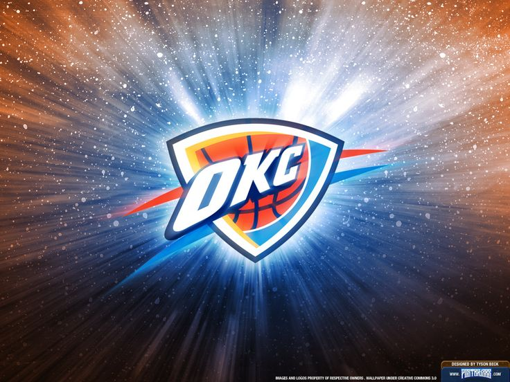 okc thunder wallpaper | Oklahoma City Thunder Logo Wallpaper | Posterizes | NBA Wallpapers ...