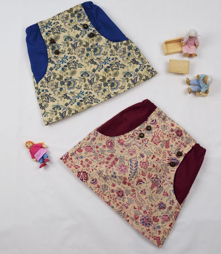 Girls 100% cotton handmade skirt