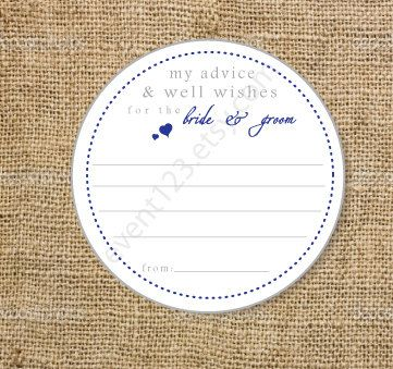 Wedding Advice cards Wedding Guest Book Bridal Shower by event123, $0.45