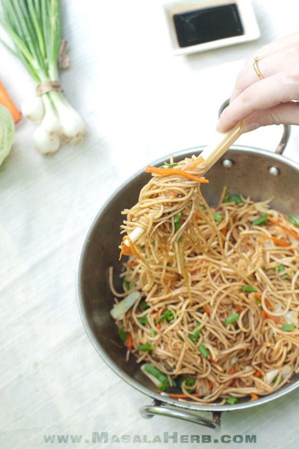 Easy vegetable chow mein recipe made from scratch in 10 minutes. Perfect comfort food weeknight noodle dinner idea. Makes a wholesome meal after a long day at work. Learn how to make Veg chow mein easily at home with the step by step instructions and pictures 🍜 So easy to make vegetable chow mein!